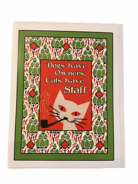 Cats Have Staff Card - Flamingo Boutique