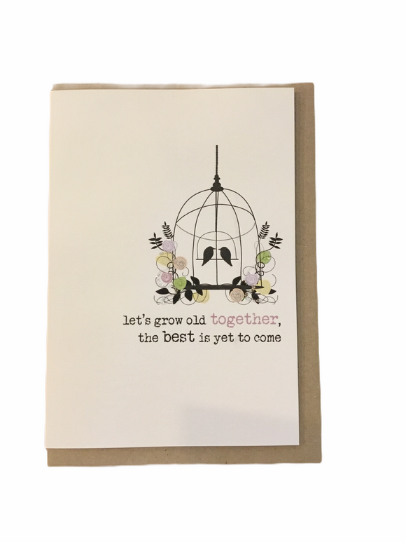 Let's Grow Old Together Card - Flamingo Boutique