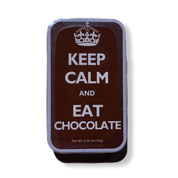 'Keep Calm And Eat Chocolate' Mint Box - Flamingo Boutique