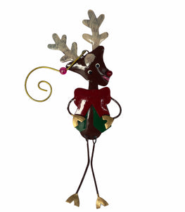 Reindeer Metal Christmas Tree Ornaments - Flamingo Boutique