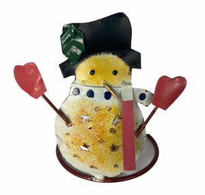 Snowman Candle Holder - Flamingo Boutique