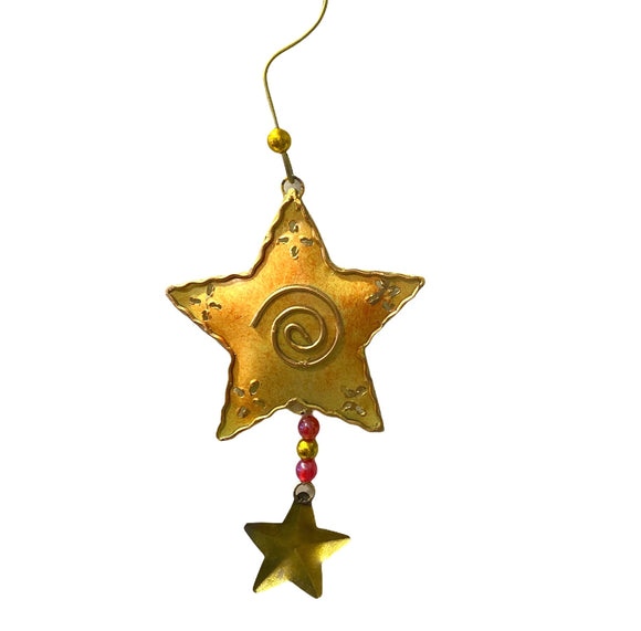 Star Metal Christmas Tree Ornaments - Flamingo Boutique