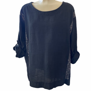 Top With Sequin Stripes