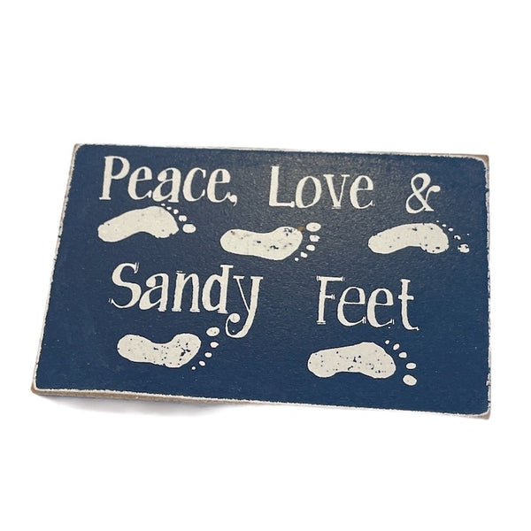 Peach, Love & Sandy Feet Magnet