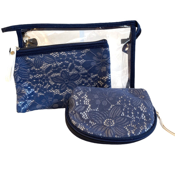 3 In 1 Lace Print Wash Bag