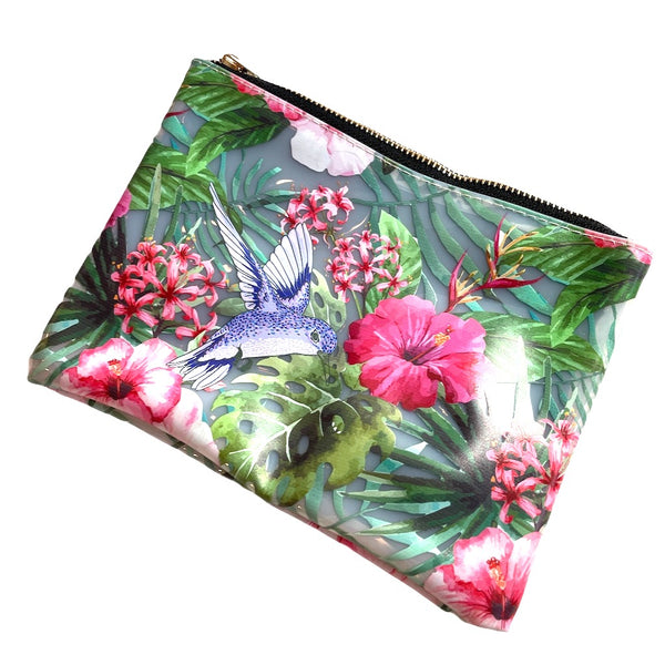 Humming Bird & Flower Pouch