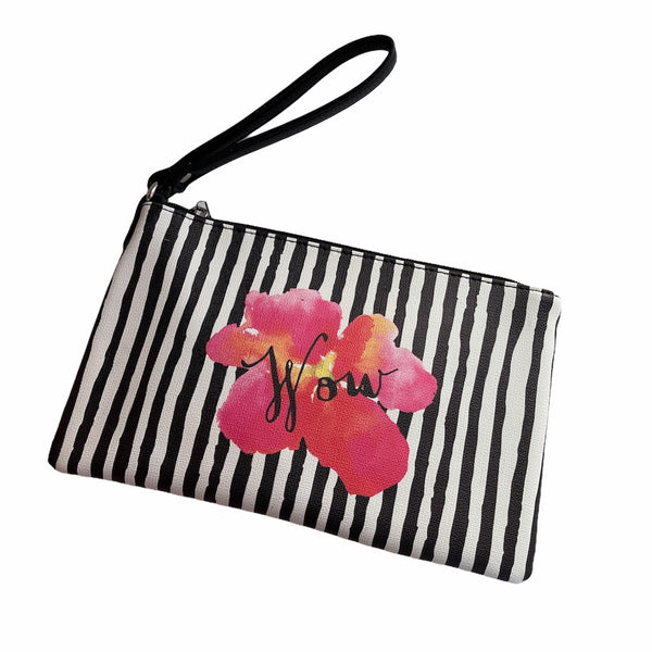 Stripey Wow Flower Pouch