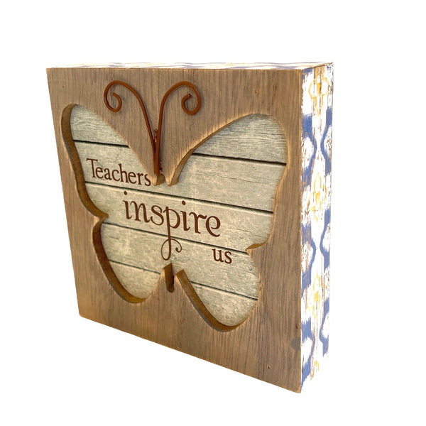 Teacher Butterfly Plaque