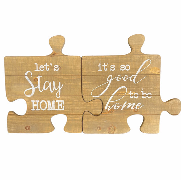 Set of 2 Jigsaw Home Signs