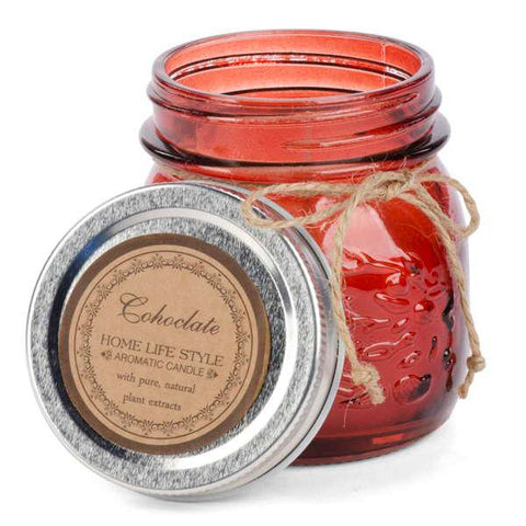 Chocolate Scented Candle In A Jar - Flamingo Boutique