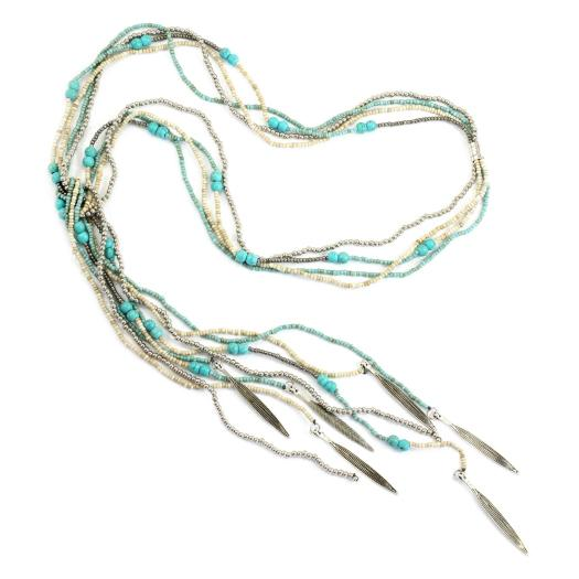 Beaded Lariat Necklace - Flamingo Boutique