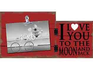 Love You To The Moon & Back Photo Clip Frame - Flamingo Boutique
