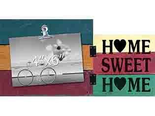Home Sweet Home Photo Clip Frame - Flamingo Boutique