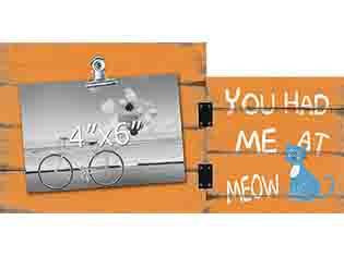 You Had Me At Meow Photo Clip Frame