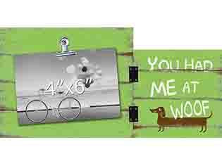 You Had Me At Woof Photo Clip Frame - Flamingo Boutique