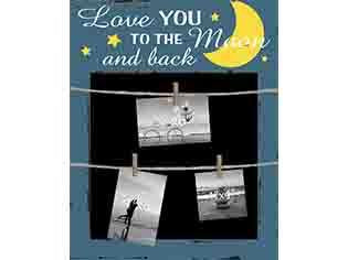 Love You To The Moon & Back Photo Clip Chalkboard - Flamingo Boutique