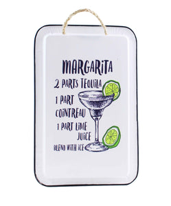 Margarita Recipe Metal Sign - Flamingo Boutique