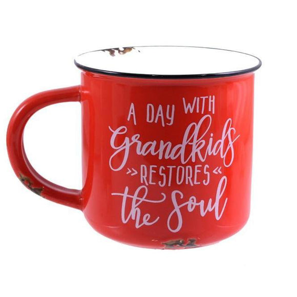 A Day With Grandkids Mug - Flamingo Boutique