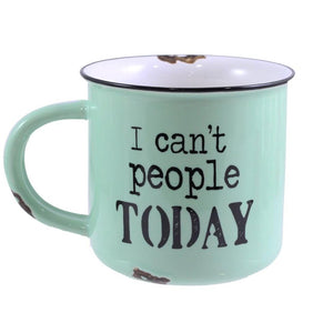 "Ceramic ""I Can't People Today"" Mug - Flamingo Boutique"