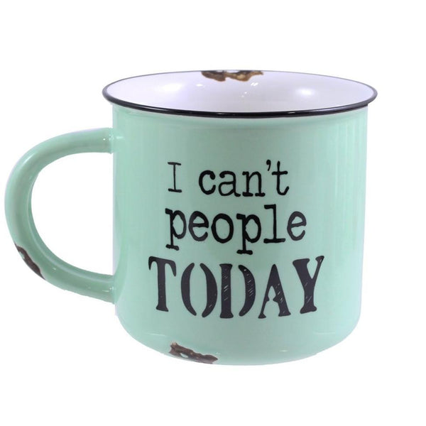 "Ceramic ""I Can't People Today"" Mug"