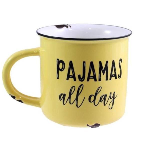 'Pajamas All Day' Mug - Flamingo Boutique