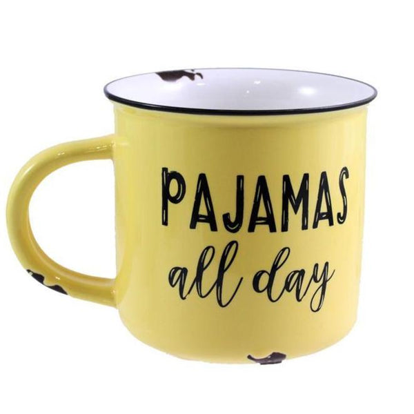 "Ceramic ""Pajamas All Day "" Mug"