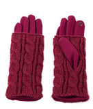Cable Knit Hand-warmer Gloves - Flamingo Boutique