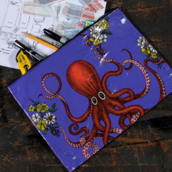 Octopus Jumbo Pouch - Flamingo Boutique