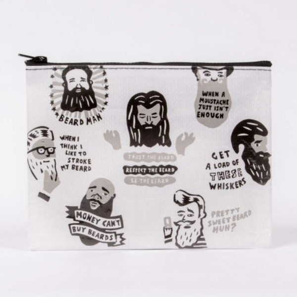 Beards Zipper Pouch - Flamingo Boutique