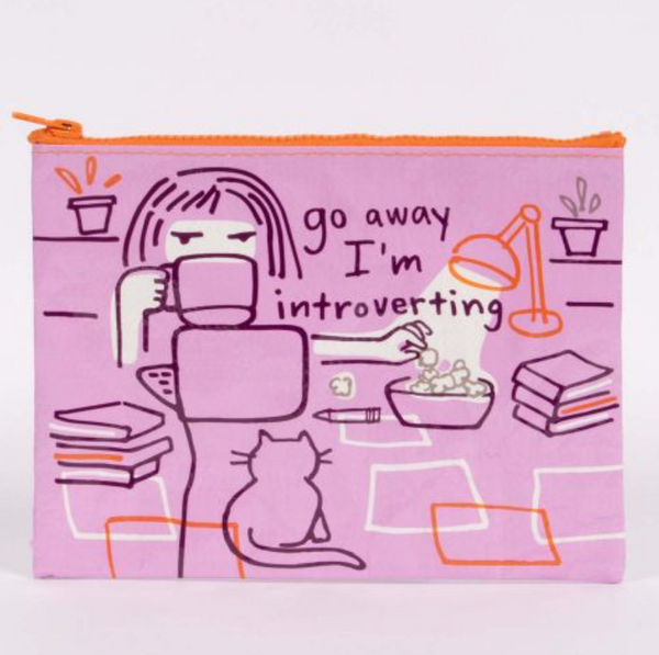 Go Away I'm Introverting Zipper Pouch - Flamingo Boutique