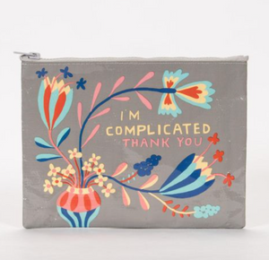 I'm Complicated Thank You Zipper Pouch - Flamingo Boutique