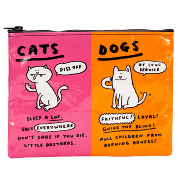 Cats & Dogs Zipper Pouch - Flamingo Boutique