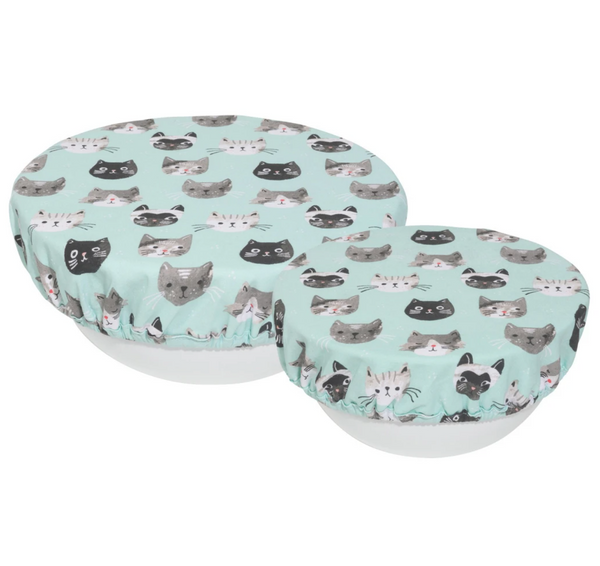Cats Meow 'Save It' Bowl Covers Set Of 2 - Flamingo Boutique