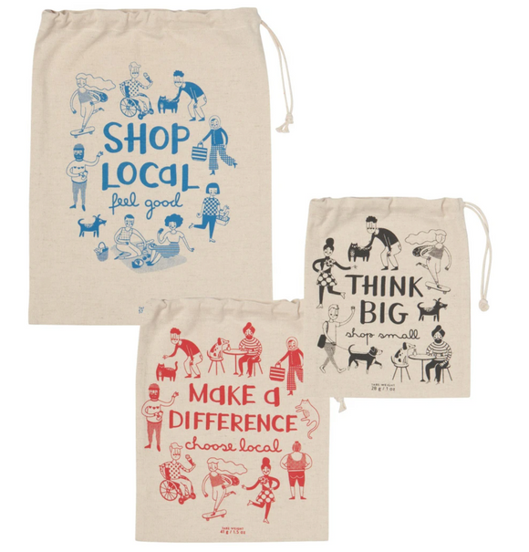 Shop Local Set Of 3 Produce Bags