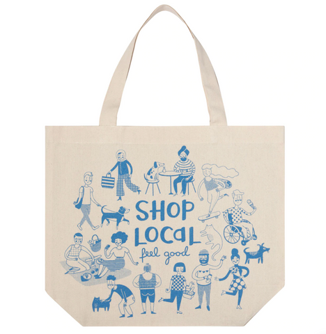 Shop Local Tote Bag - Flamingo Boutique
