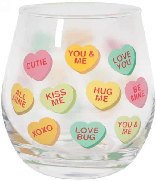 Sweet Heart Stemless Wine Glass