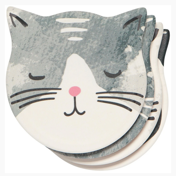 Cat's Meow Soak Up Coaster Set - Flamingo Boutique