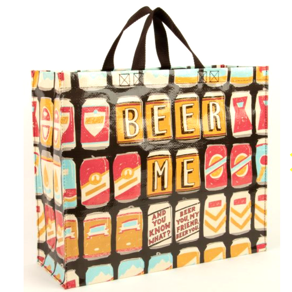 Beer Me Shopping Tote - Flamingo Boutique