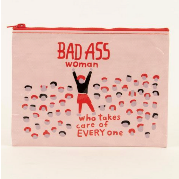 Bad Ass Woman Zipper Pouch - Flamingo Boutique