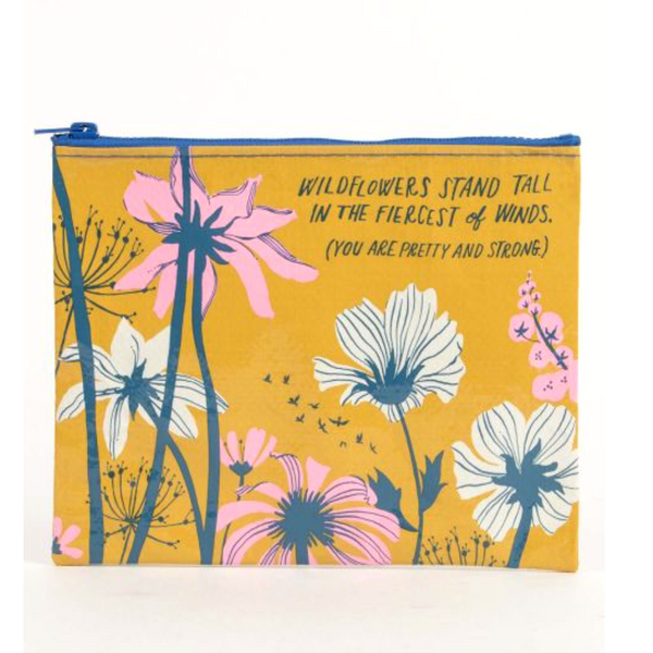 Wildflowers Stand Tall Zipper Pouch - Flamingo Boutique