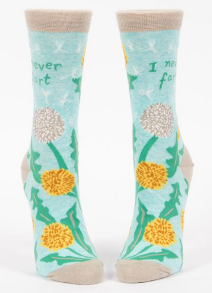 I Never Fart Women's Crew Socks - Flamingo Boutique
