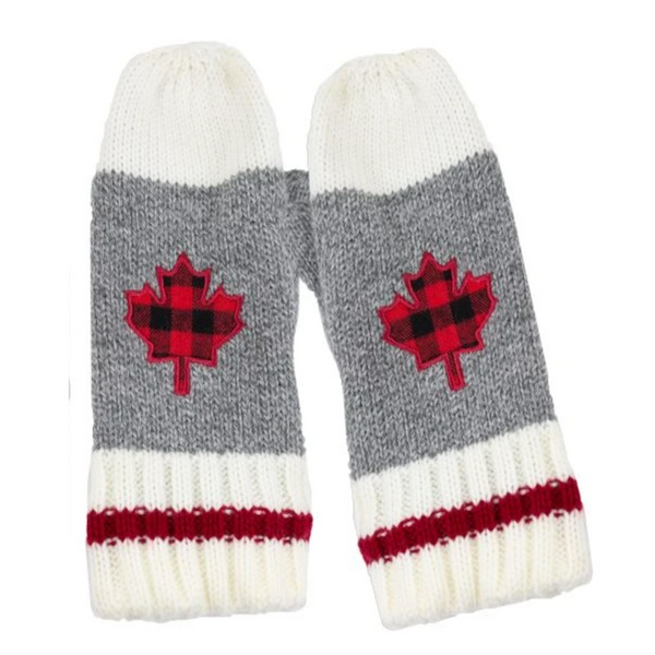 Work Mittens with Canadian Emblem