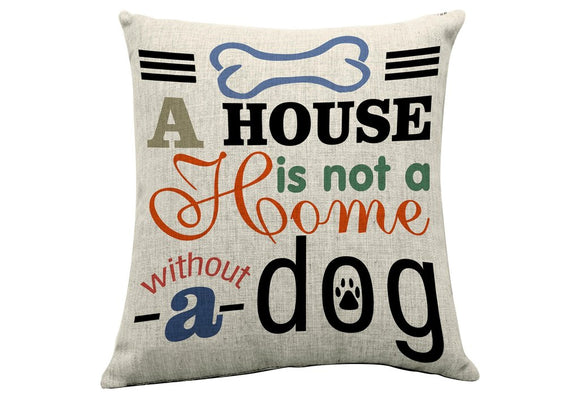 Home With Dog Cushion - Flamingo Boutique