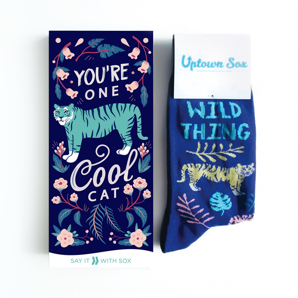 You're One Cool Cat Card & Socks - Flamingo Boutique
