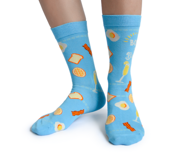 Born To Brunch Socks - Flamingo Boutique