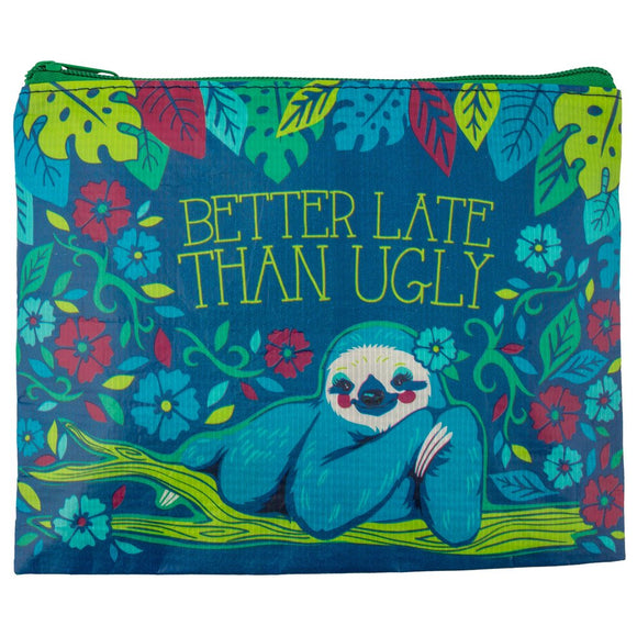 Sloth Recycled Carry All Pouch - Flamingo Boutique