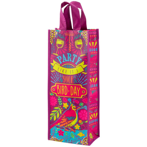 Party Like It's Your Bird-Day Wine Bag - Flamingo Boutique