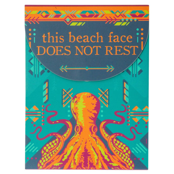 This Beach Face Does Not Rest - Octopus Pocket Notepad - Flamingo Boutique