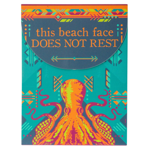 'This Beach Face Does Not Rest' Octopus Pocket Notepad