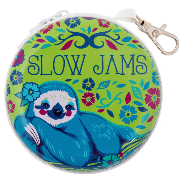 Slow Jams Sloth Bits & Buds Case - Flamingo Boutique